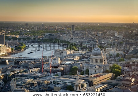 aerial overview of london city with the st pauls cathedral stock photo © andreykr