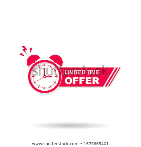Limited Time Offer Red Vector Icon Design Stock photo © rizwanali3d