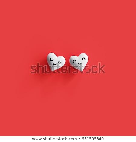 Zdjęcia stock: Inny · serca · para · odizolowany · biały · miłości
