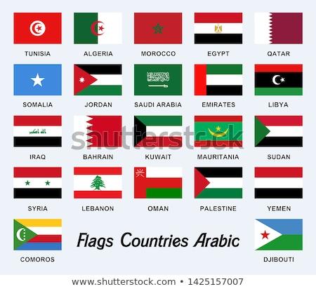 Suudi Arabistan Libya bayraklar bilmece yalıtılmış beyaz Stok fotoğraf © Istanbul2009