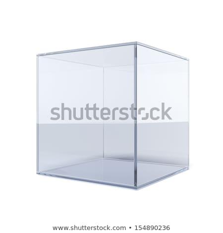 Beaucoup blanche cases verre cube technologie Photo stock © MONARX3D