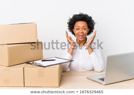Shocked businessman in warehouse Stock photo © wavebreak_media