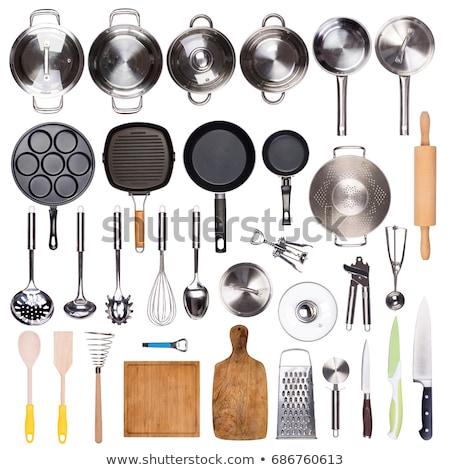 mutfak · pişirme · araçları · beyaz - stok fotoğraf © ozaiachin