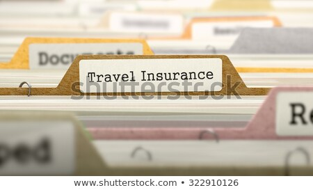 File Folder Labeled as Travel Insurance Stock photo © tashatuvango