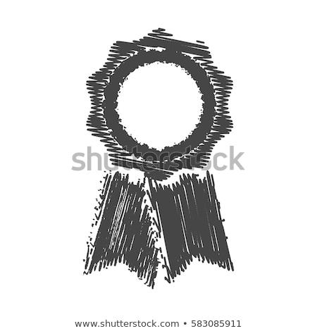 Medalha primeiro lugar ícone giz Foto stock © RAStudio