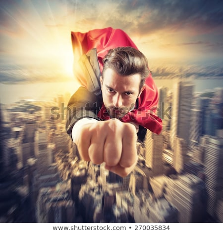 Superhero flies faster Stock photo © alphaspirit