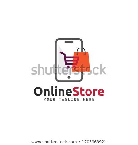 Optikai bolt logo üzlet számítógép szem Stock fotó © shawlinmohd