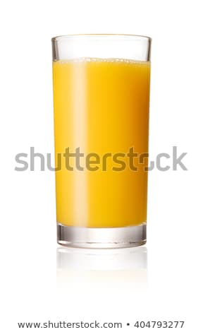 jus · d'orange · verre · isolé · blanche · main - photo stock © ozaiachin