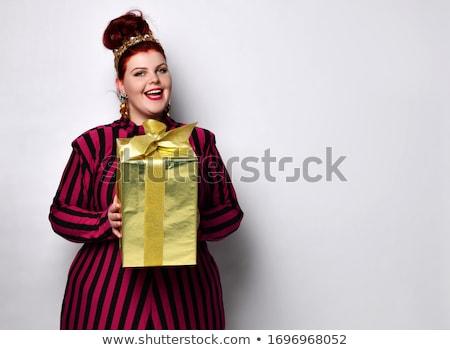 Test csokornyakkendő gyönyörű mellkas fekete lány Stock fotó © master1305