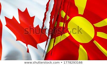 Canadá Macedonia banderas rompecabezas aislado blanco Foto stock © Istanbul2009