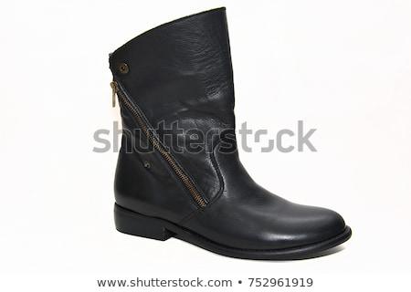 fekete · magas · sarok · cipők · kézitáska · kuplung · izolált - stock fotó © ozaiachin