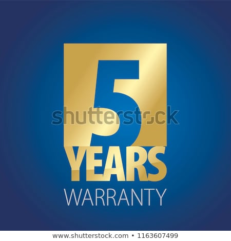 Yıl garanti mavi vektör ikon dizayn Stok fotoğraf © rizwanali3d