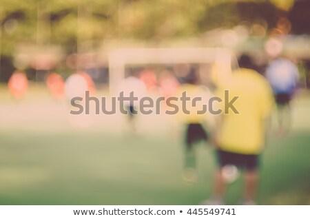 Elmosódott gyerekek játszik futball retro fiúk Stock fotó © stevanovicigor