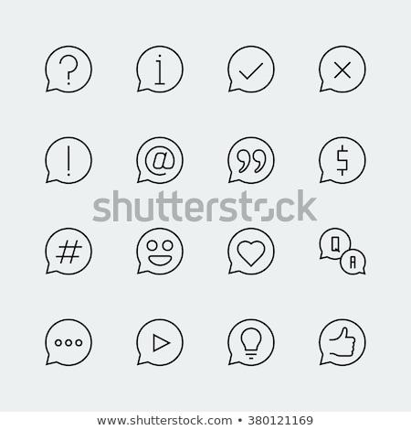hashtag symbol line icon stock photo © rastudio