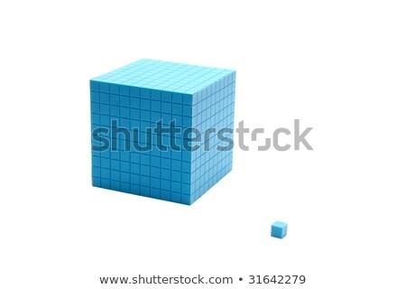 Peças blocos isolado branco negócio caixa Foto stock © alexandrenunes