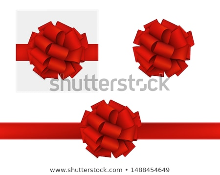 Red gift bow and ribbon. EPS 10 Stock photo © beholdereye