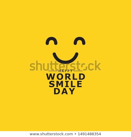 moderno · giallo · ridere · felice · sorriso · faccia - foto d'archivio © nezezon