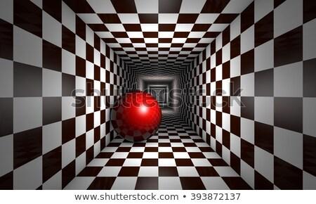 Sakk metafora piros labda alagút űr Stock fotó © grechka333