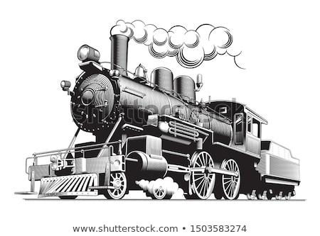 старые · пар · поезд · станция · Vintage · двигатель - Сток-фото © ecopic