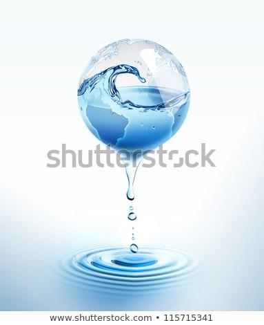 mundo · núcleo · agua · ilustración · global · blanco - foto stock © jezper
