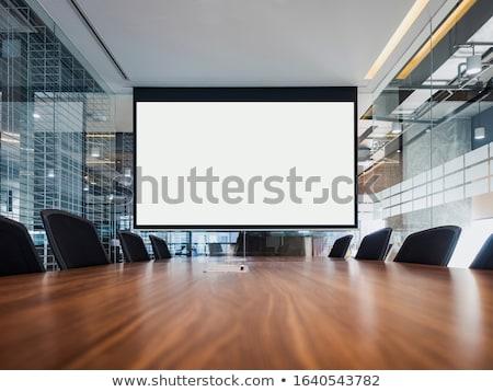 vídeo · projetor · reunião · educação · conferência · cadeira - foto stock © smuay
