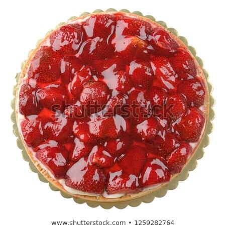 Zselé torta aszalt áfonya gyümölcs piros Stock fotó © Digifoodstock