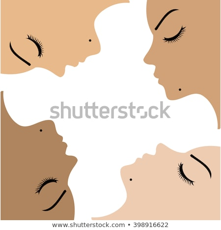 Graphic showing unity amongst beautiful women of different ethnicity  Stock photo © shawlinmohd