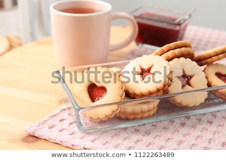 christmas · cookie · czerwony · biały · wstążka - zdjęcia stock © digifoodstock