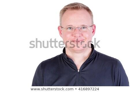 atraente · loiro · homem · genuíno · amigável · sorrir - foto stock © ozgur