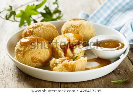 Süzme peynir şeker tereyağı tatlı öğle yemeği tatlı Stok fotoğraf © Digifoodstock