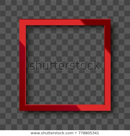 красный кадр лента дизайна карт Сток-фото © zven0