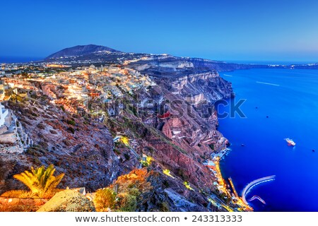 Santorini sziget Görögország égbolt épület tenger Stock fotó © photocreo