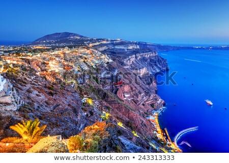 Santorini eiland Griekenland hemel gebouw zee Stockfoto © photocreo