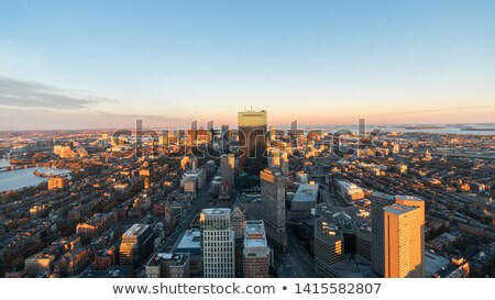 aerial view of downtown boston prudential towerusa stock photo © capturelight
