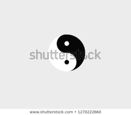 Tai chi yin and yang Stock photo © Twinkieartcat