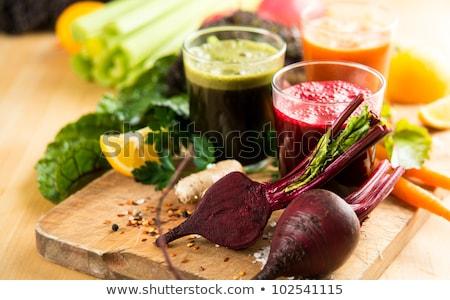 Sebze meyve suyu cam taze malzemeler sağlık Stok fotoğraf © joker