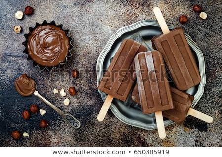 Almond chocolate ice lolly Stock photo © Digifoodstock