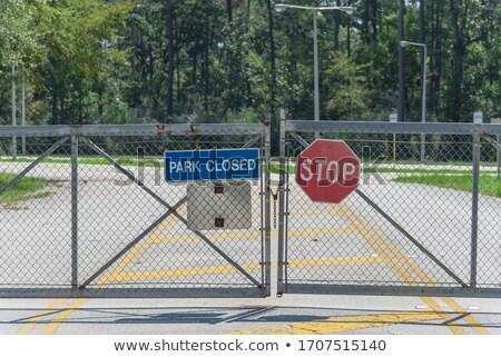 金屬 籬笆 松樹 設計 門 背景 商業照片 © bluering