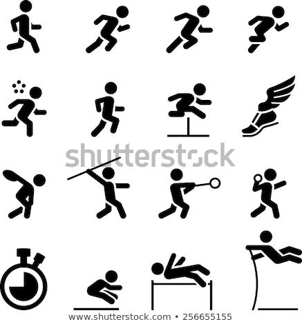 スポーツ アイコン 高跳び 実例 デザイン 芸術 ストックフォト © bluering