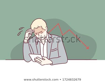okostelefon · grafikon · pénzügyi · növekedés · nyíl · képernyő - stock fotó © Customdesigner