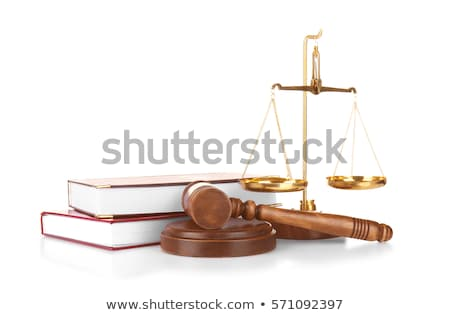 wooden gavel on white background stock photo © simpson33