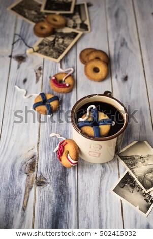 Sütik díszített ahogy egy lebeg kávé Stock fotó © faustalavagna