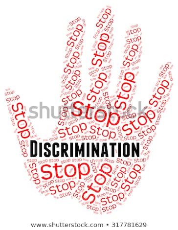 остановки расизм контроль знак остановки Сток-фото © stuartmiles