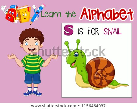 A worksheet showing a boy and a snail Stock photo © bluering