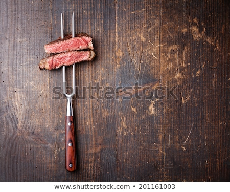 jugoso · filete · ternera · carne · de · vacuno · carne · tomate - foto stock © kalinich24