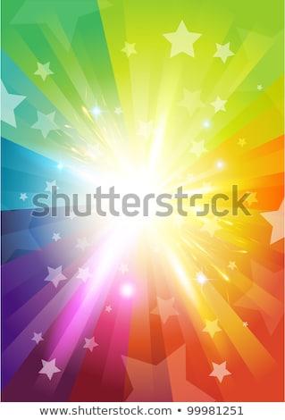 culoare · razele · multe · stele · soare - imagine de stoc © rogistok