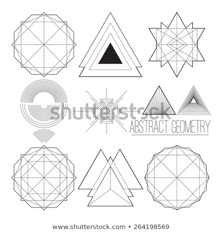Abstract simple geometric figure with circle, polygon, handwork  Stock photo © Vanzyst