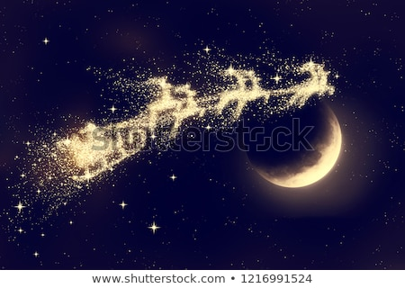 blue moon and flying Santa Stock photo © romvo