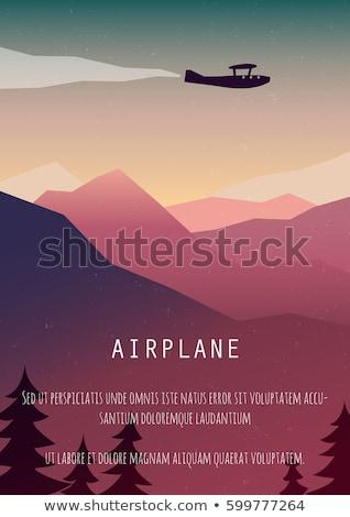 Filmi poster düzlem uçan örnek arka plan Stok fotoğraf © bluering