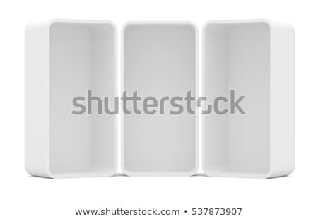 Three blank empty rounded showcase display Stock photo © cherezoff